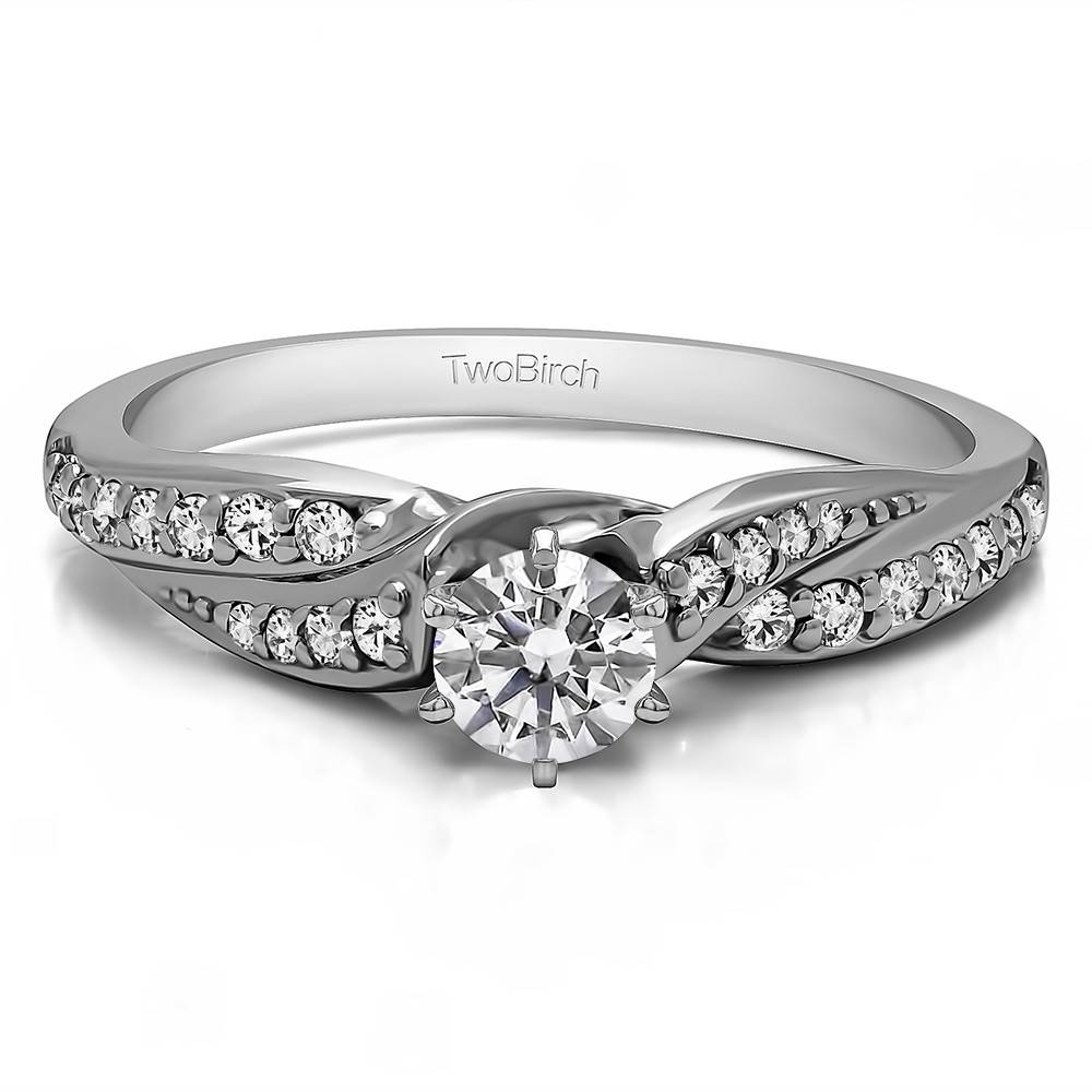 0.32 Carat Infinity Wave Engagement Ring With Wave Engagement Rings (Gallery 5 of 15)