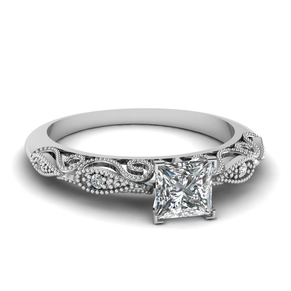 0.5 Ct. Princess Cut Paisley Diamond Ring In 950 Platinum In Princess Cut Engagement Rings (Gallery 8 of 15)