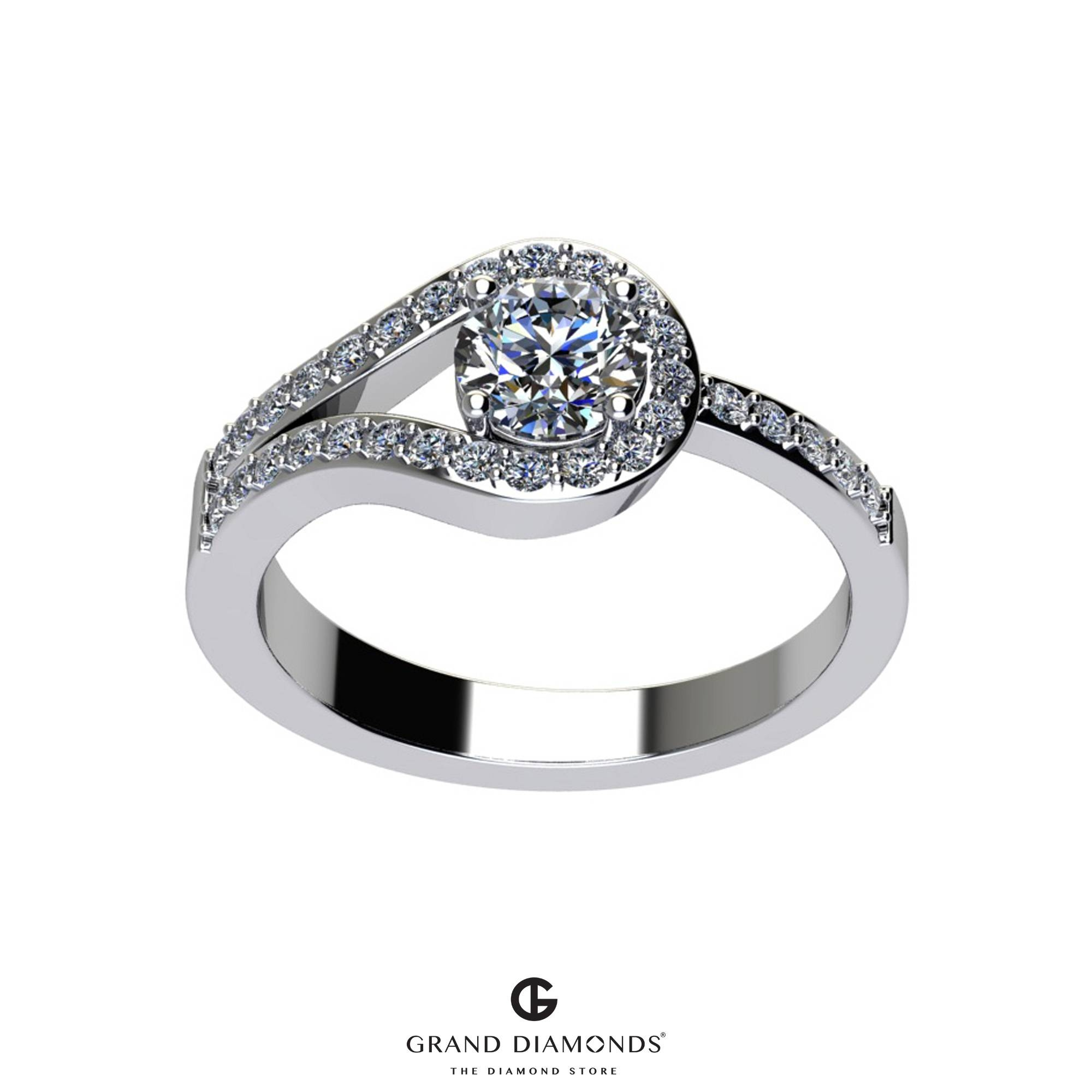 0.60cts Split Shank/halo Diamond Engagement Ring Gd504a | For Halo Diamond Wedding Rings (Gallery 10 of 15)