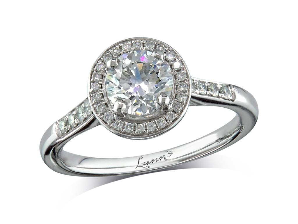 0.91Ct Centre | Brilliant | H | Cluster Diamond Ring | Queens Throughout Engagement Rings Belfast (Gallery 11 of 15)