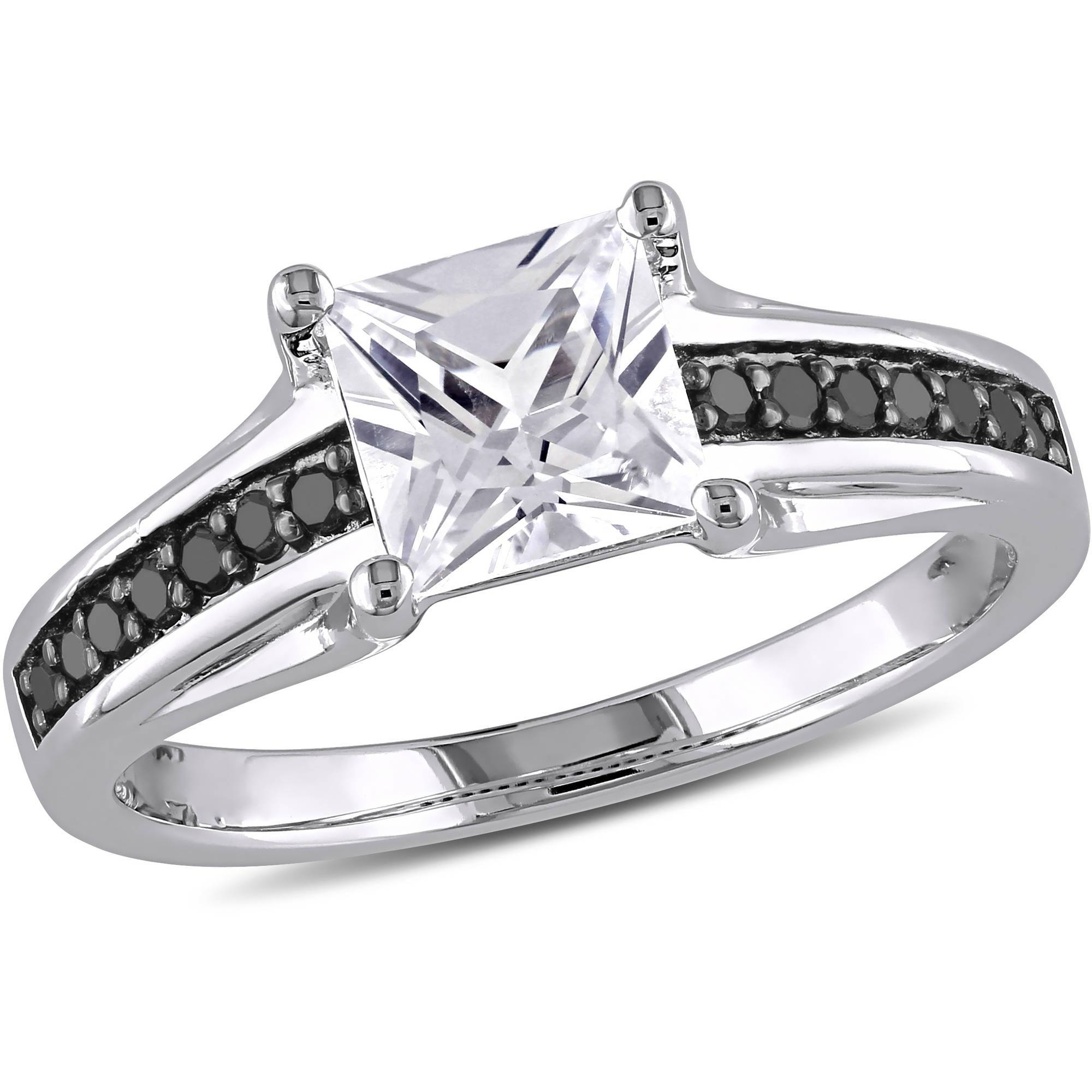 1 1/3 Carat T.g.w. Created White Sapphire And 1/7 Carat T.w (View 10 of 15)
