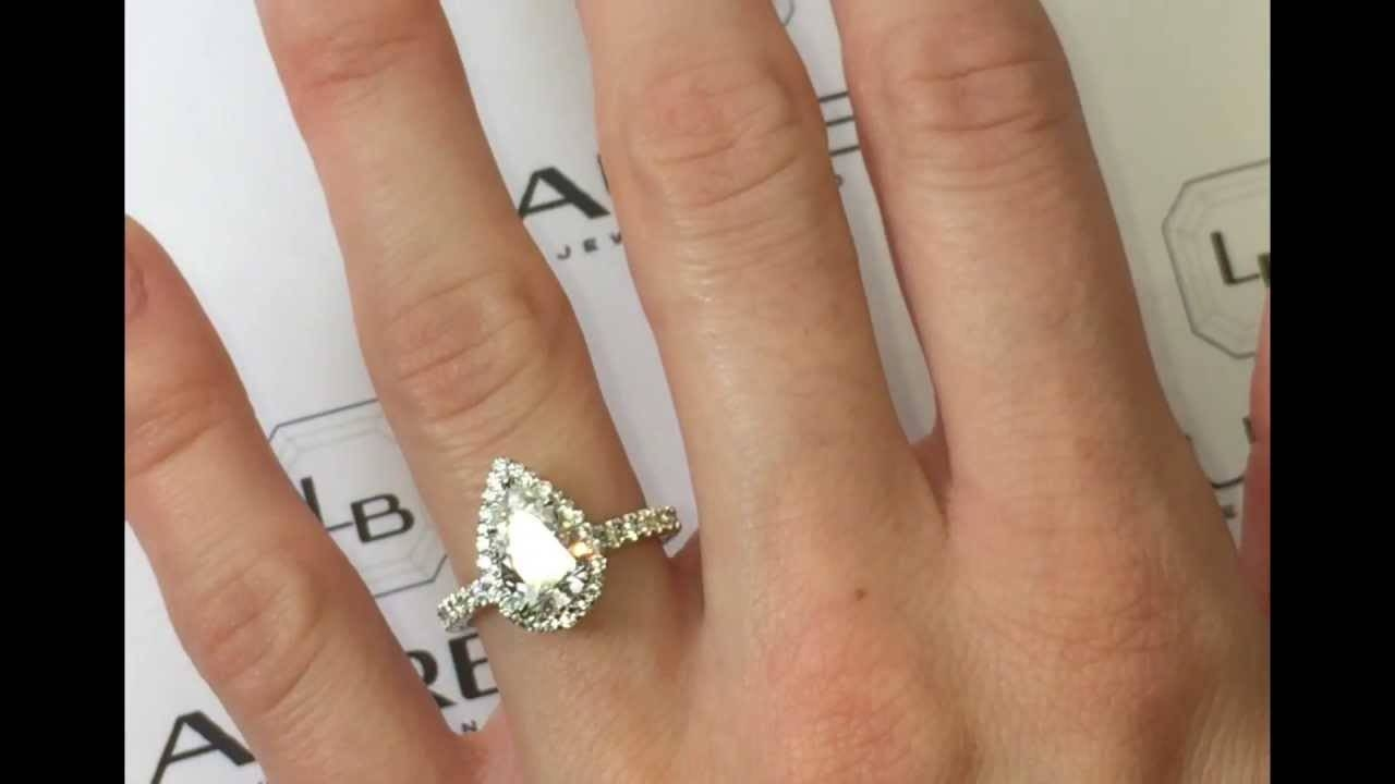 1.50 Carat Pear Shape Diamond Engagement Ring – Youtube Regarding 2 Carat Pear Shaped Engagement Rings (Gallery 3 of 15)