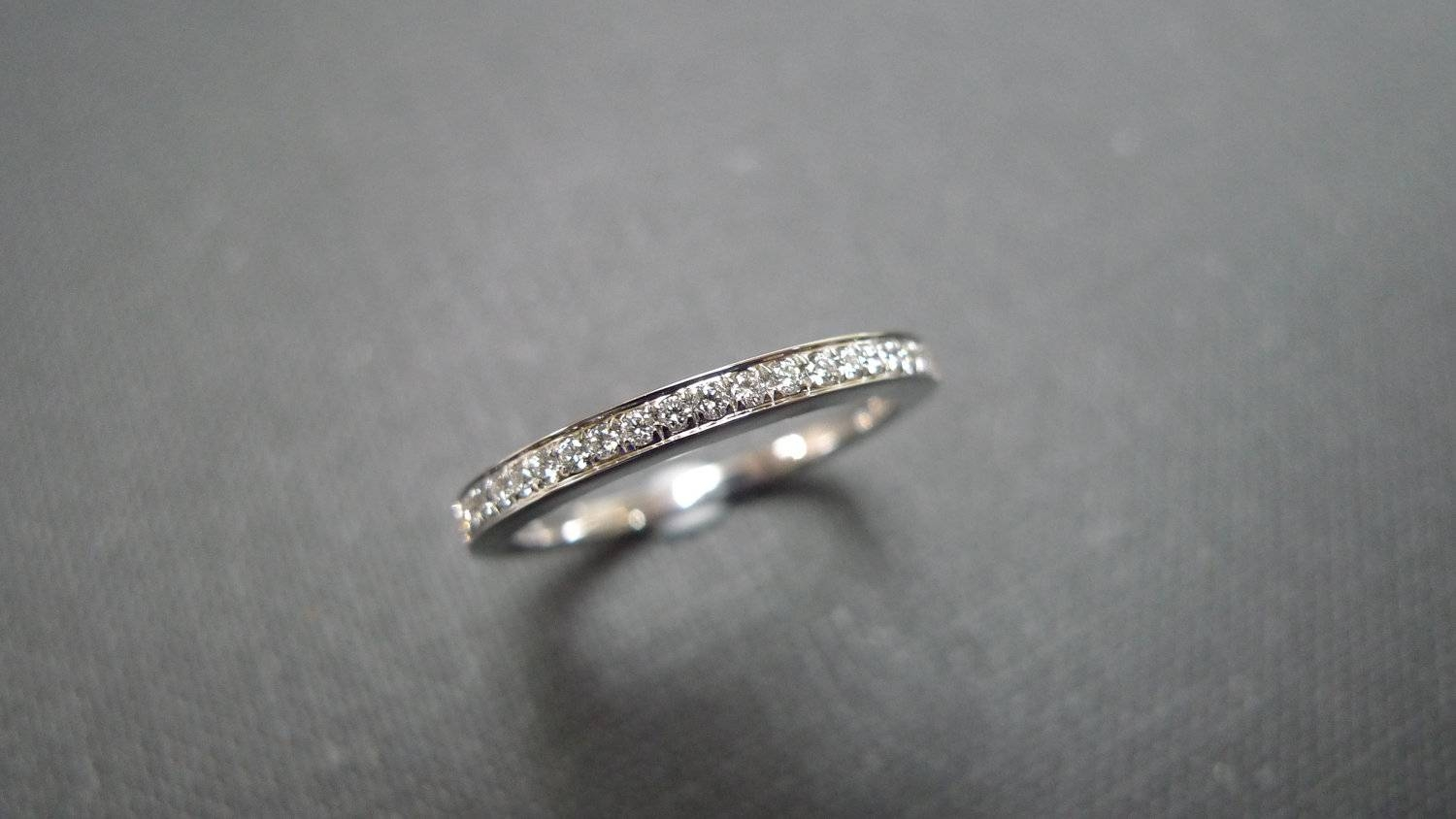 1.5Mm Diamond Wedding Band In Platinum Diamond Wedding Ring Within  (View 2 of 15)