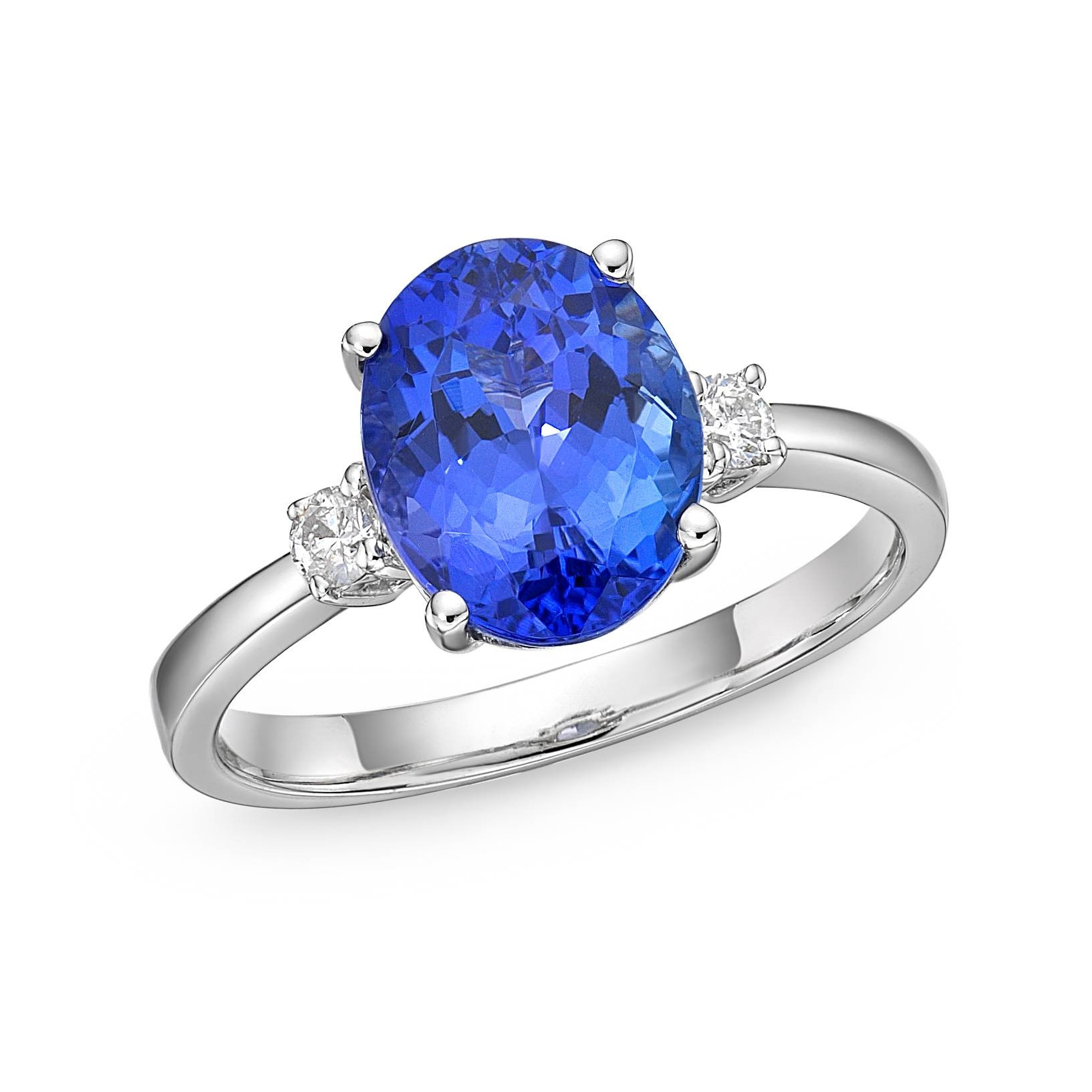 "1.76 Carat Tanzanite & Diamond ""Paris"" Engagement Ring : Richland For White Gold Tanzanite Engagement Rings (Gallery 12 of 15)"
