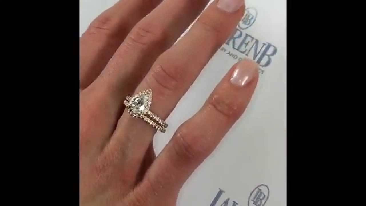 1 Carat Pear Shape Diamond Engagement Ring In Rose Gold – Youtube For 2 Carat Pear Shaped Engagement Rings (Gallery 4 of 15)