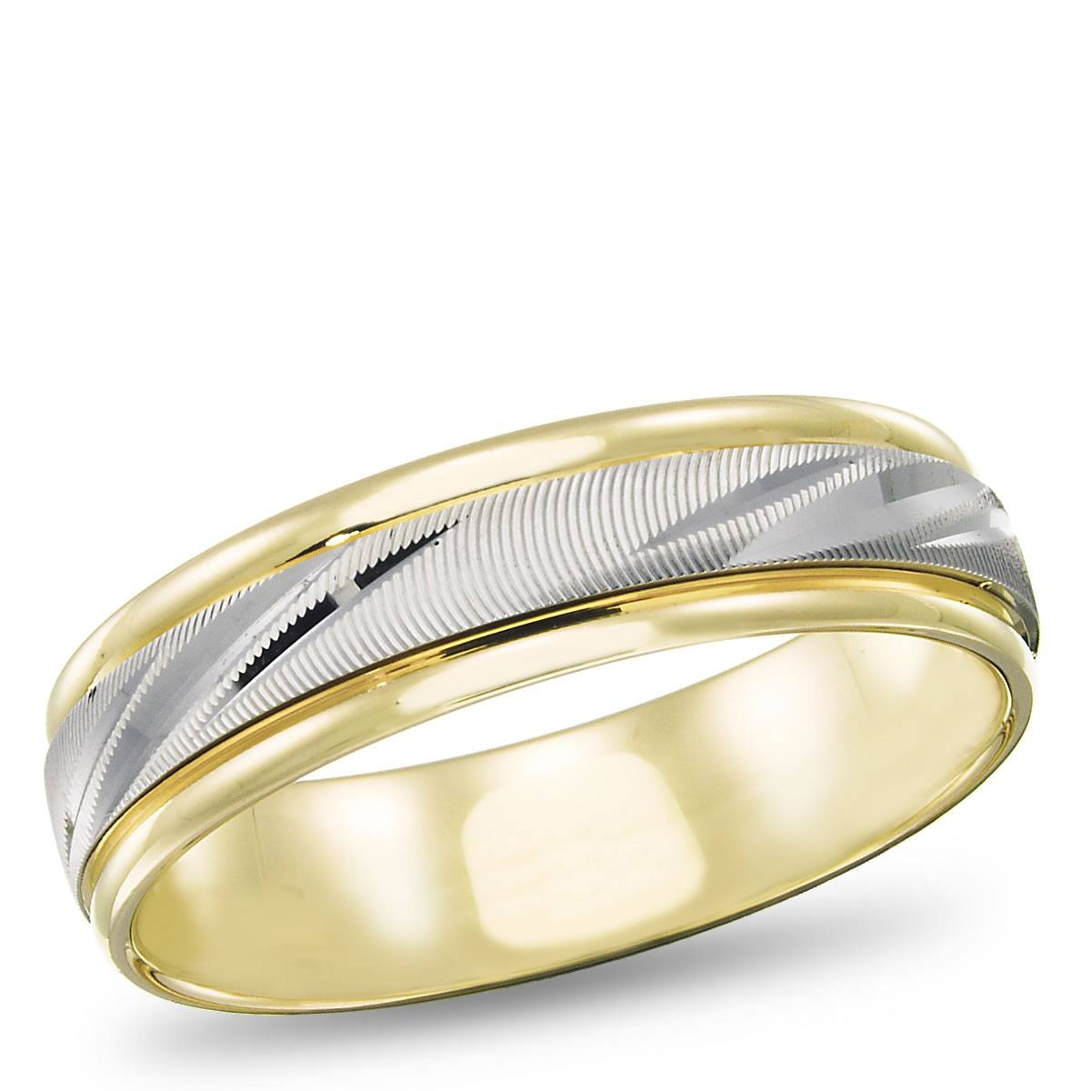 14K Two Tone Gold 5.5Mm Men's Wedding Band | Samuels Jewelers Throughout Two Tone Wedding Bands For Him (Gallery 6 of 15)