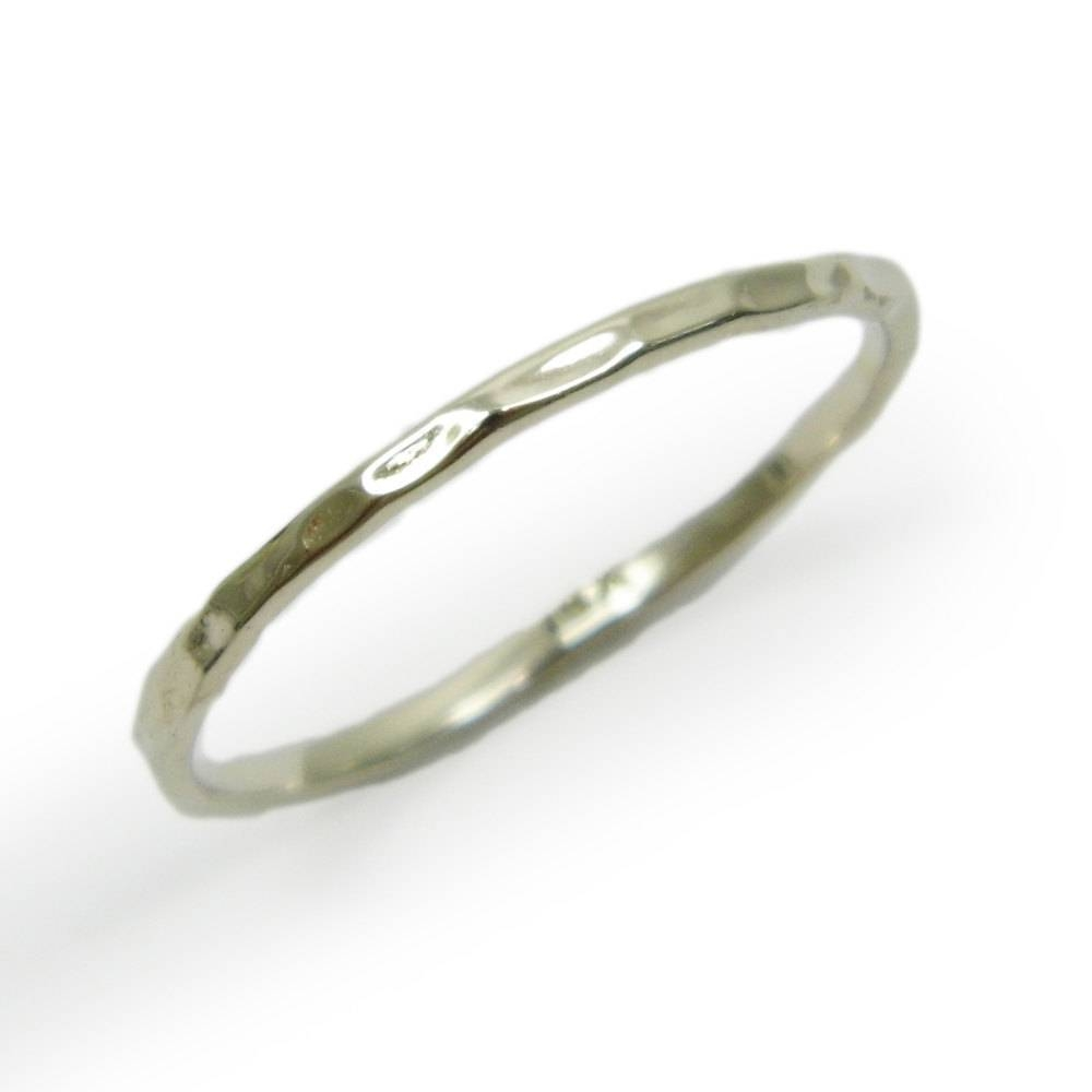 14K White Gold Thin 1.5 Mm Wedding Band (View 2 of 15)