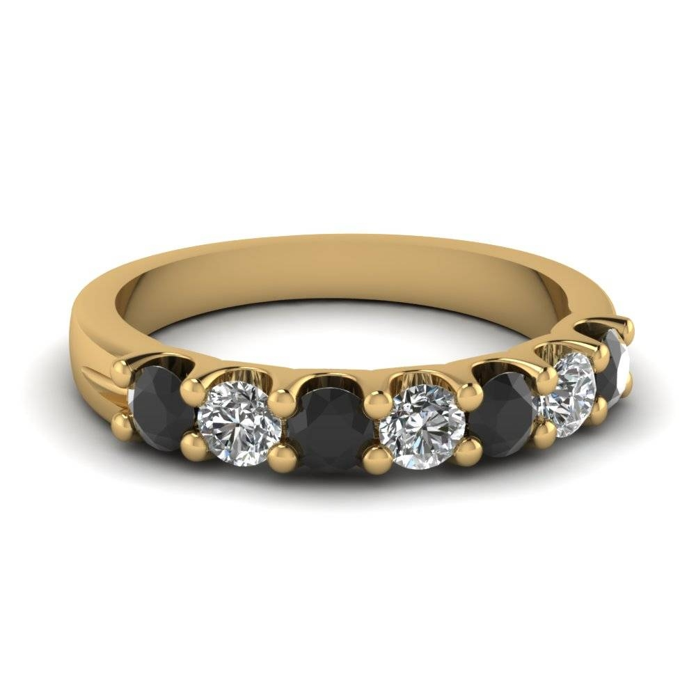 14K Yellow Gold Black Diamond Wedding Band | Fascinating Diamonds Regarding Black Diamond Wedding Bands For Women (View 2 of 15)