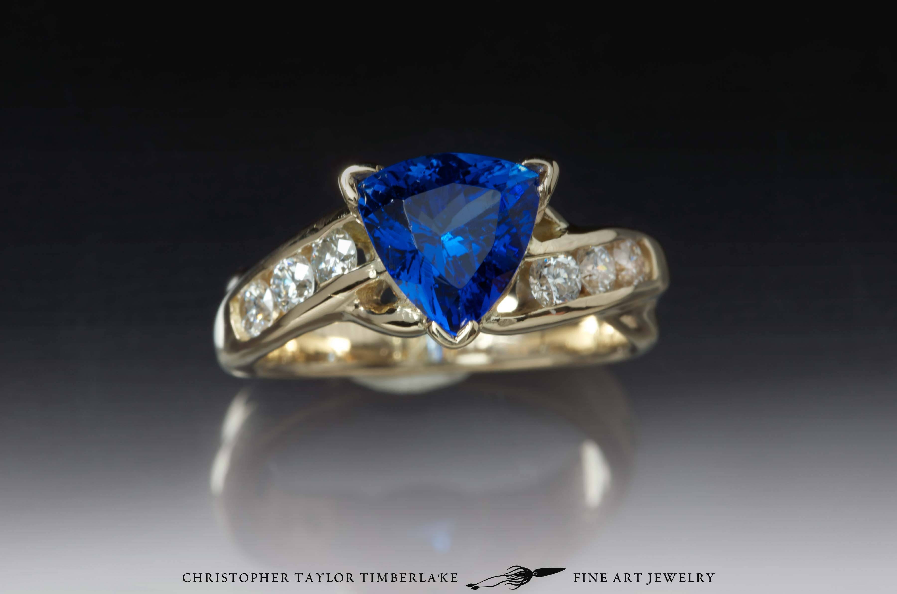 14K Yellow Gold Engagement Ring With Custom Stones (Tanzanite And Within Tanzanite Engagement (View 2 of 15)