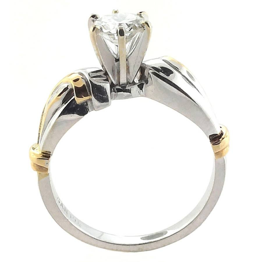 14Kt White And Yellow Gold  (View 3 of 15)