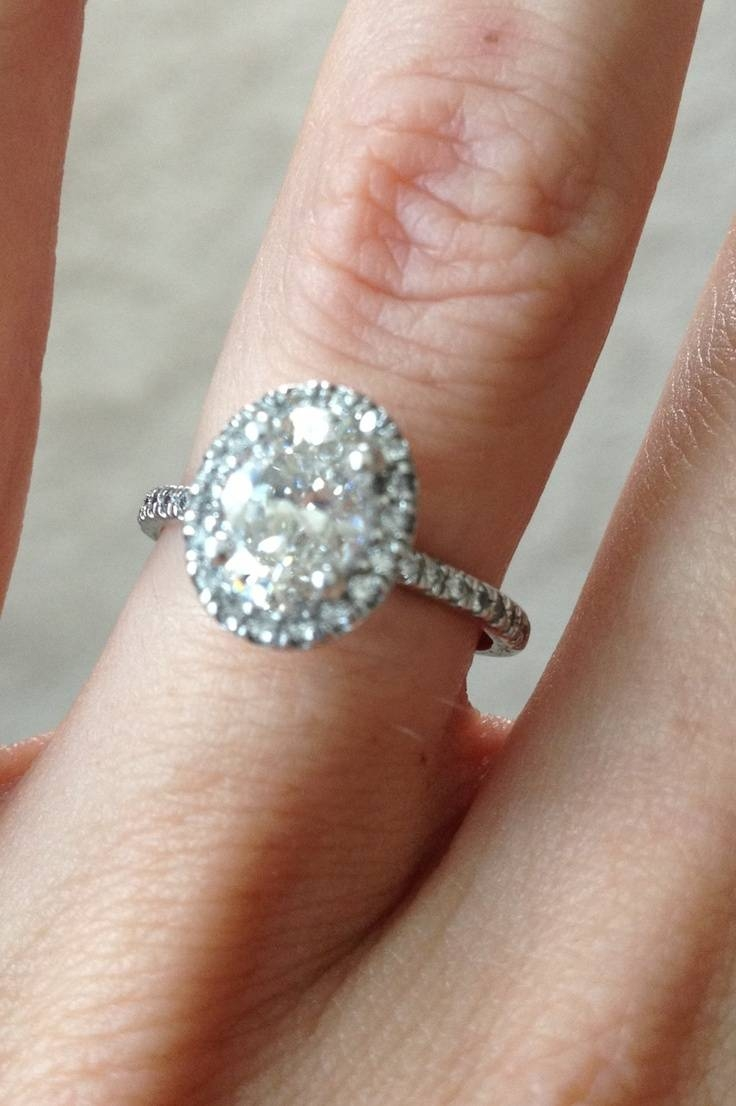 15 Best Oval Engagement Rings Images On Pinterest | Oval Intended For Molly Sims Wedding Rings (View 2 of 15)
