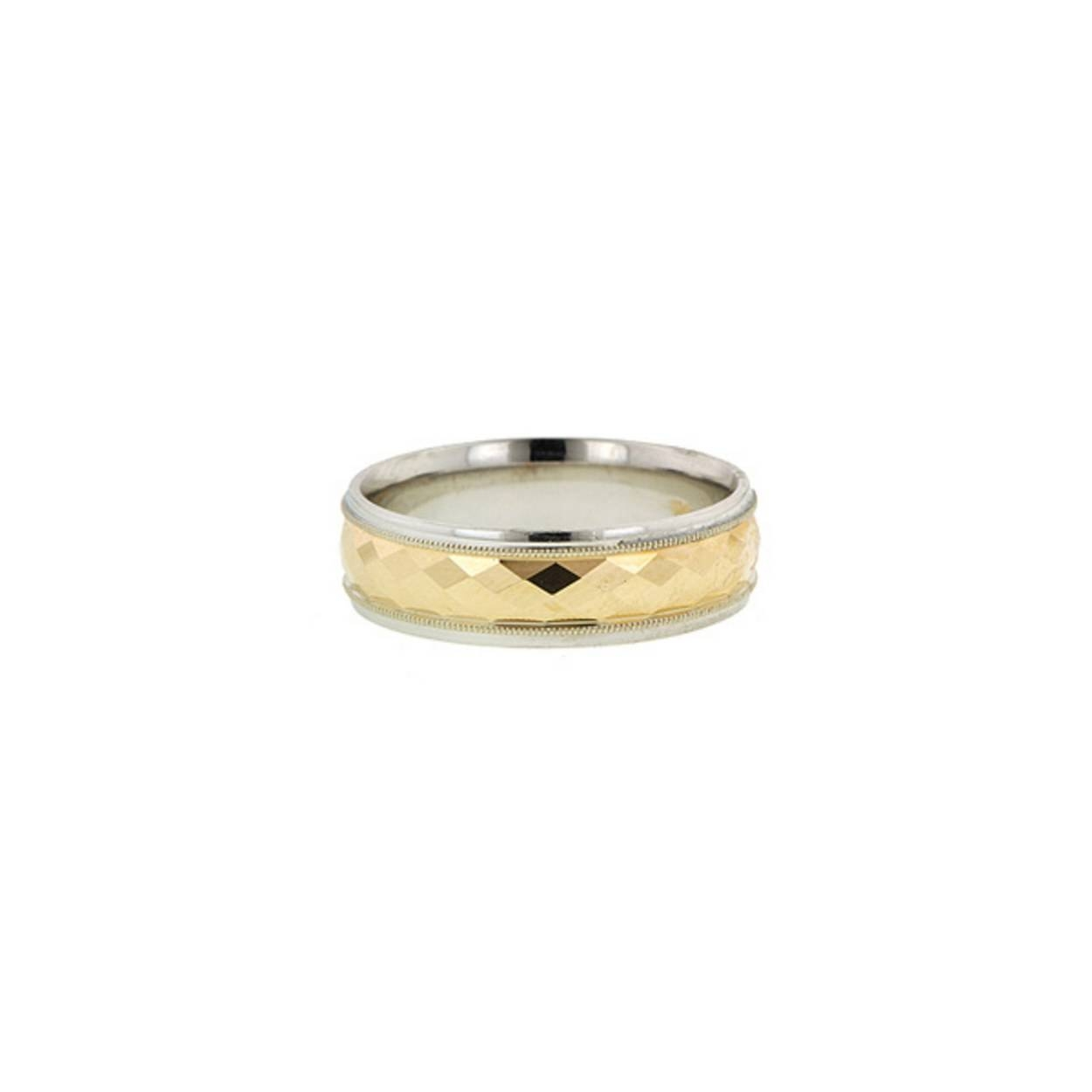 15 Men's Wedding Bands Your Groom Won't Want To Take Off | Glamour Intended For Men's Wedding Bands Styles (View 1 of 15)