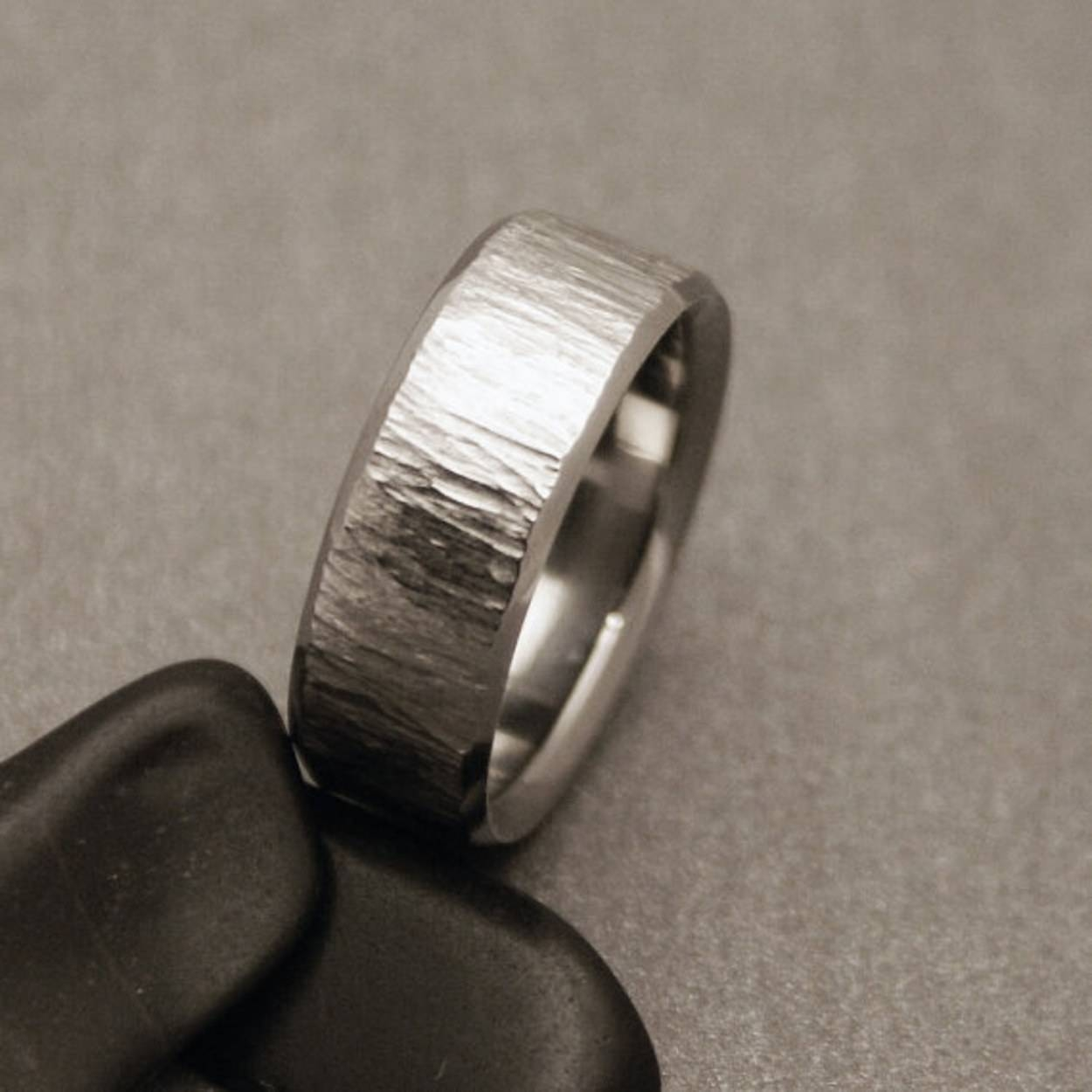 15 Men's Wedding Bands Your Groom Won't Want To Take Off | Glamour Pertaining To Masculine Wedding Rings (View 2 of 15)
