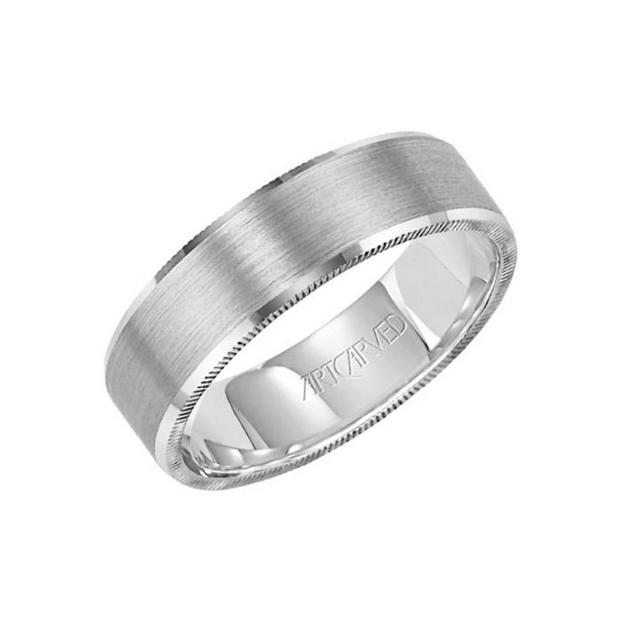 15 Men's Wedding Bands Your Groom Won't Want To Take Off | Glamour With Masculine Wedding Rings (View 3 of 15)