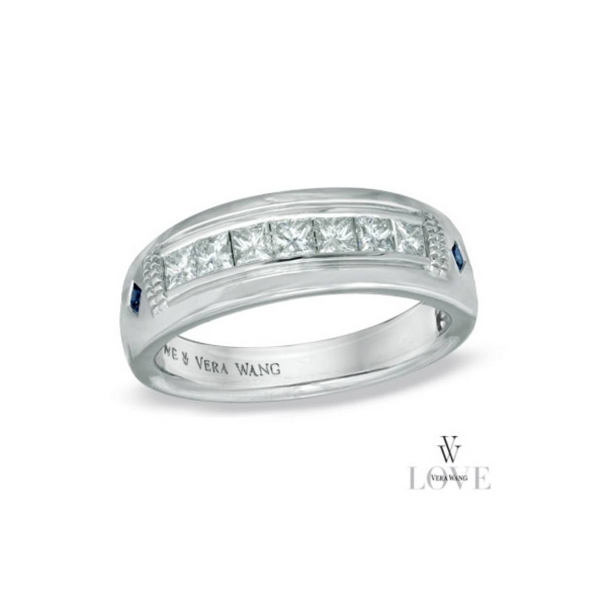 15 Men's Wedding Bands Your Groom Won't Want To Take Off | Glamour Within Zales Mens Diamond Wedding Bands (View 1 of 15)