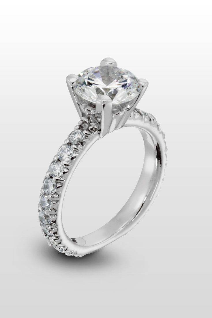 162 Best The Ring Images On Pinterest | Engagement Rings, Wedding In Wedding Rings With Diamonds All Around (View 1 of 15)