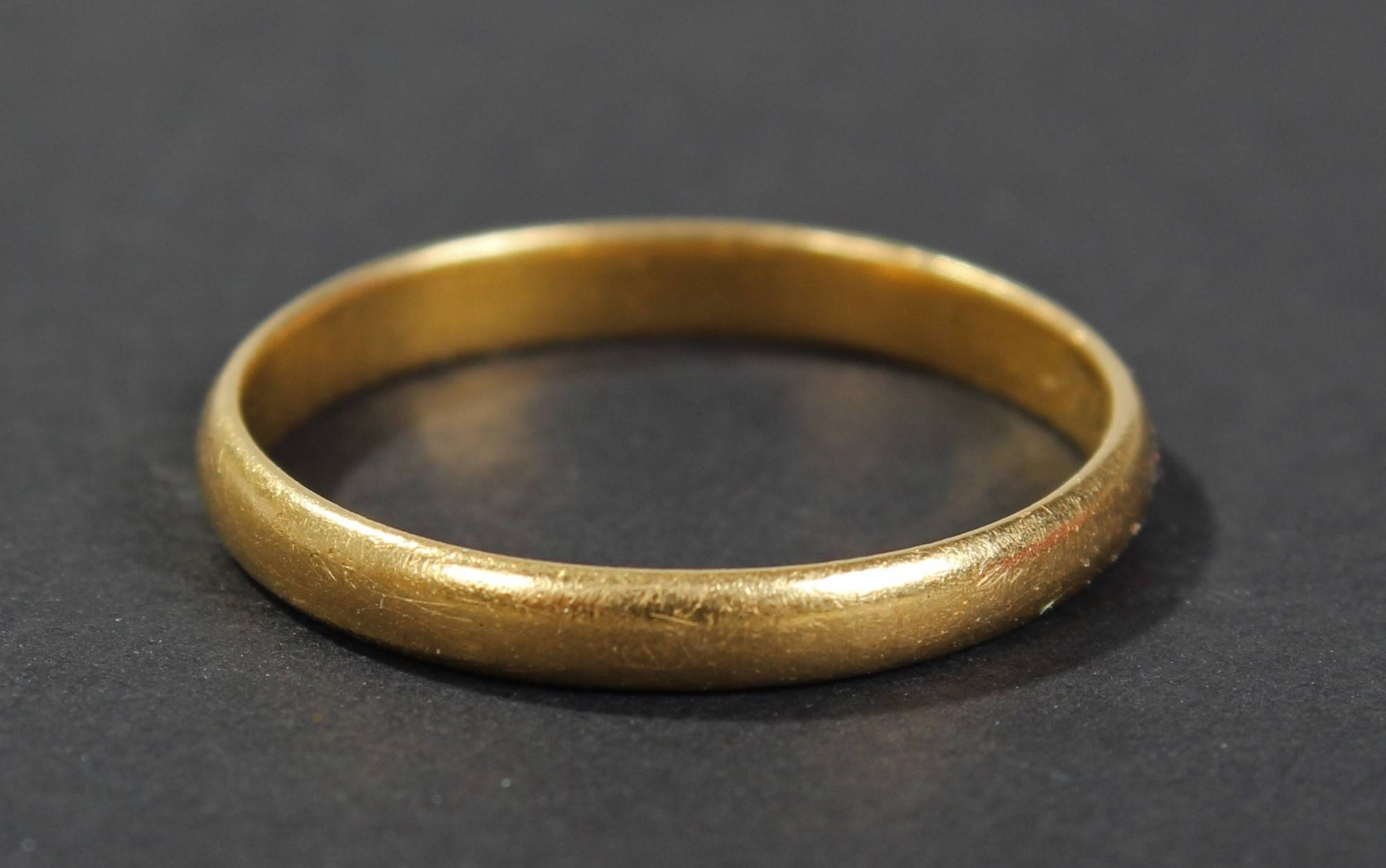 17Th Century/18Th Century Wedding Band, With Makers Initials `am Inside 22 Carat Gold Wedding Rings (View 1 of 15)