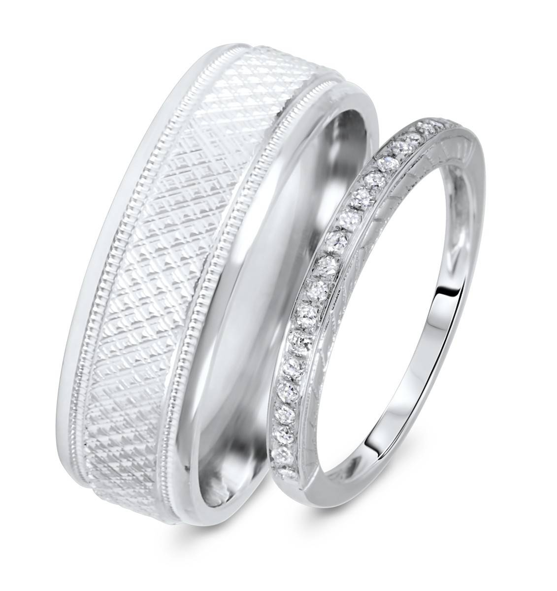 Cheap Wedding Bands: 15 Inspirations Of Cheap Wedding Bands Sets His And Hers