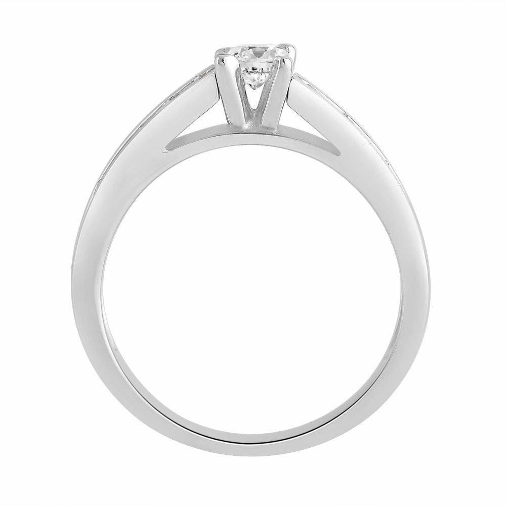 18 Carat White Gold Engagement Ring (View 15 of 15)