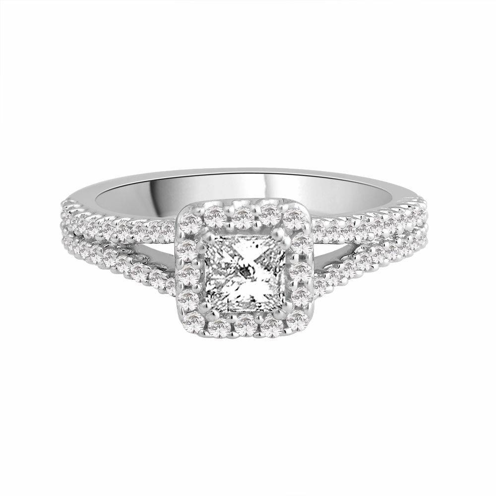 18 Carat White Gold Engagement Ring  (View 4 of 15)