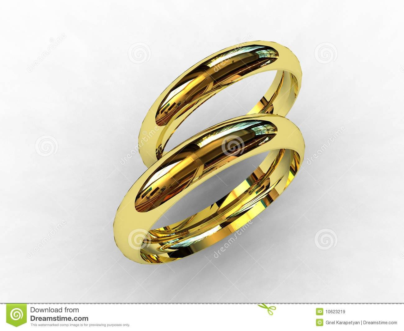 18 Karat Gold Wedding Bands Royalty Free Stock Images – Image Throughout 18 Karat Gold Wedding Rings (View 3 of 15)