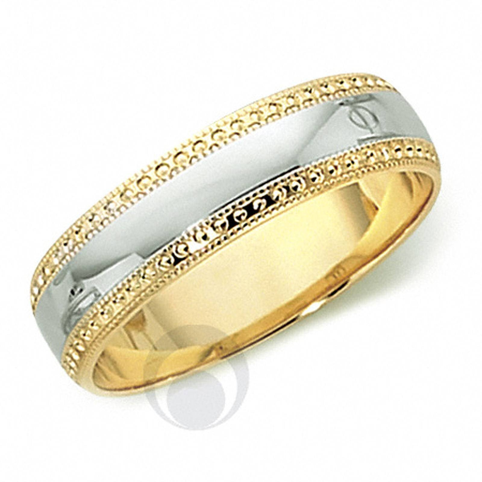 18Ct Gold & Platinum Wedding Ring Wedding Dress From The Platinum Intended For Platinum And Gold Wedding Rings (View 1 of 15)
