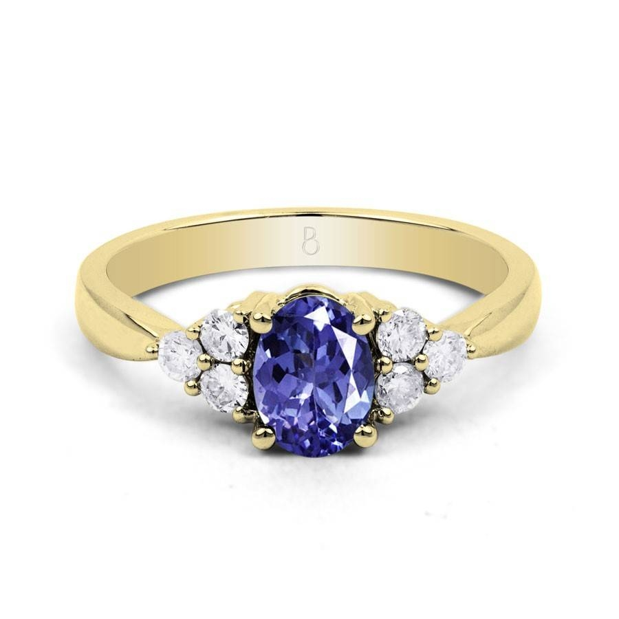 18Ct Yellow Gold Tanzanite & Diamond Vintage Engagement Ring  (View 3 of 15)
