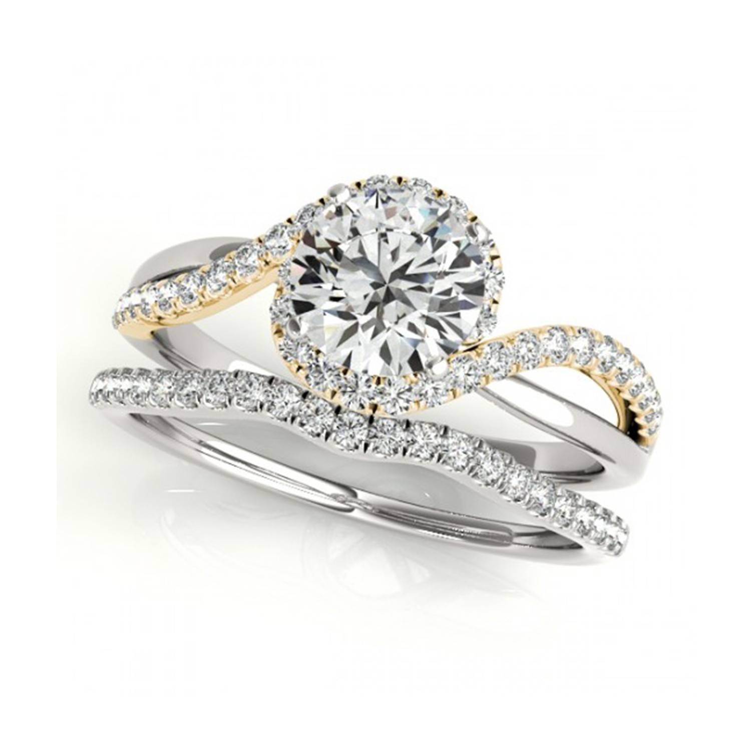Featured Photo of White And Yellow Gold Wedding Rings