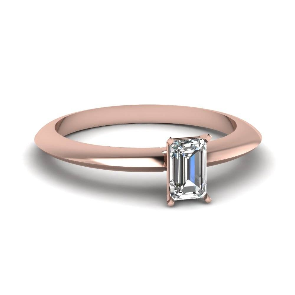 18K Rose Gold | Fascinating Diamonds For Preset Engagement Rings (Gallery 13 of 15)