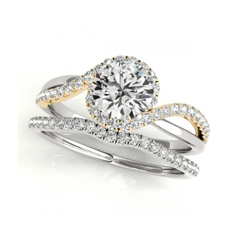 18K White Gold Matching Aileen Diamond Wedding Band (2Mm) Inside White Gold And Yellow Gold Wedding Rings (View 3 of 15)