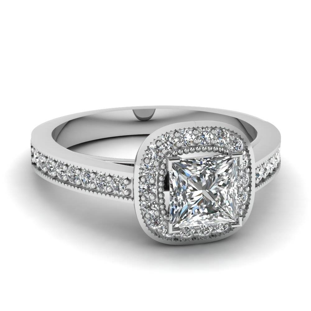 20 Styles Of Square Engagement Rings That One Can Never Resist Pertaining To Engagement And Wedding Rings In One (View 2 of 15)