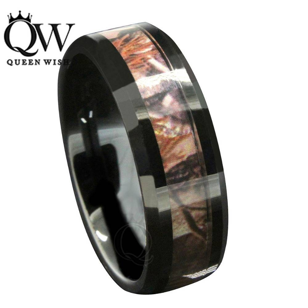 2017 Mens 8Mm Irish Black Tungsten Wedding Bands Celtic Design Pertaining To Men's Black And Red Wedding Bands (View 1 of 15)