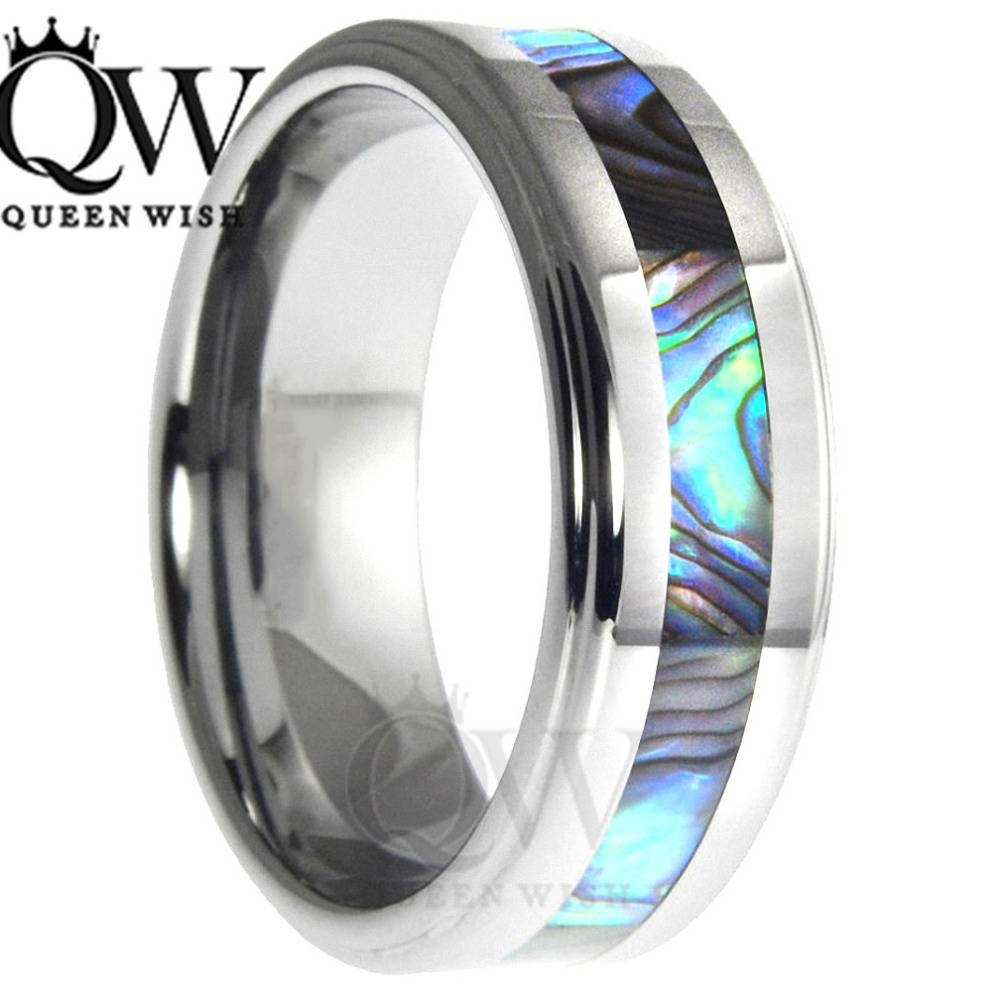 2017 Mens Celtic Rings 6Mm/8Mm Tungsten Carbide Wedding Bands Blue Regarding Women Tungsten Wedding Bands (View 1 of 15)