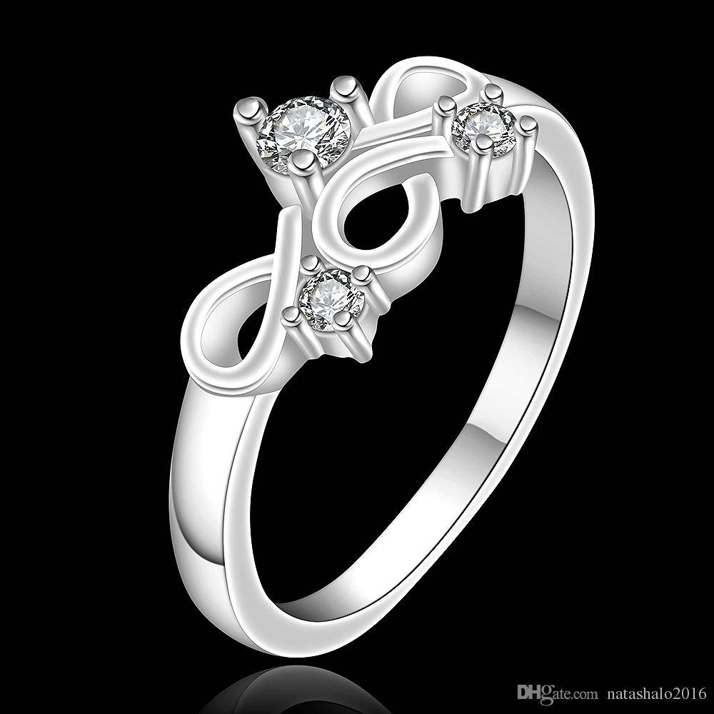 2017 Unique Design Women Wedding Rings With Box Chinese Knot Shape For Female Engagement Rings (Gallery 10 of 15)