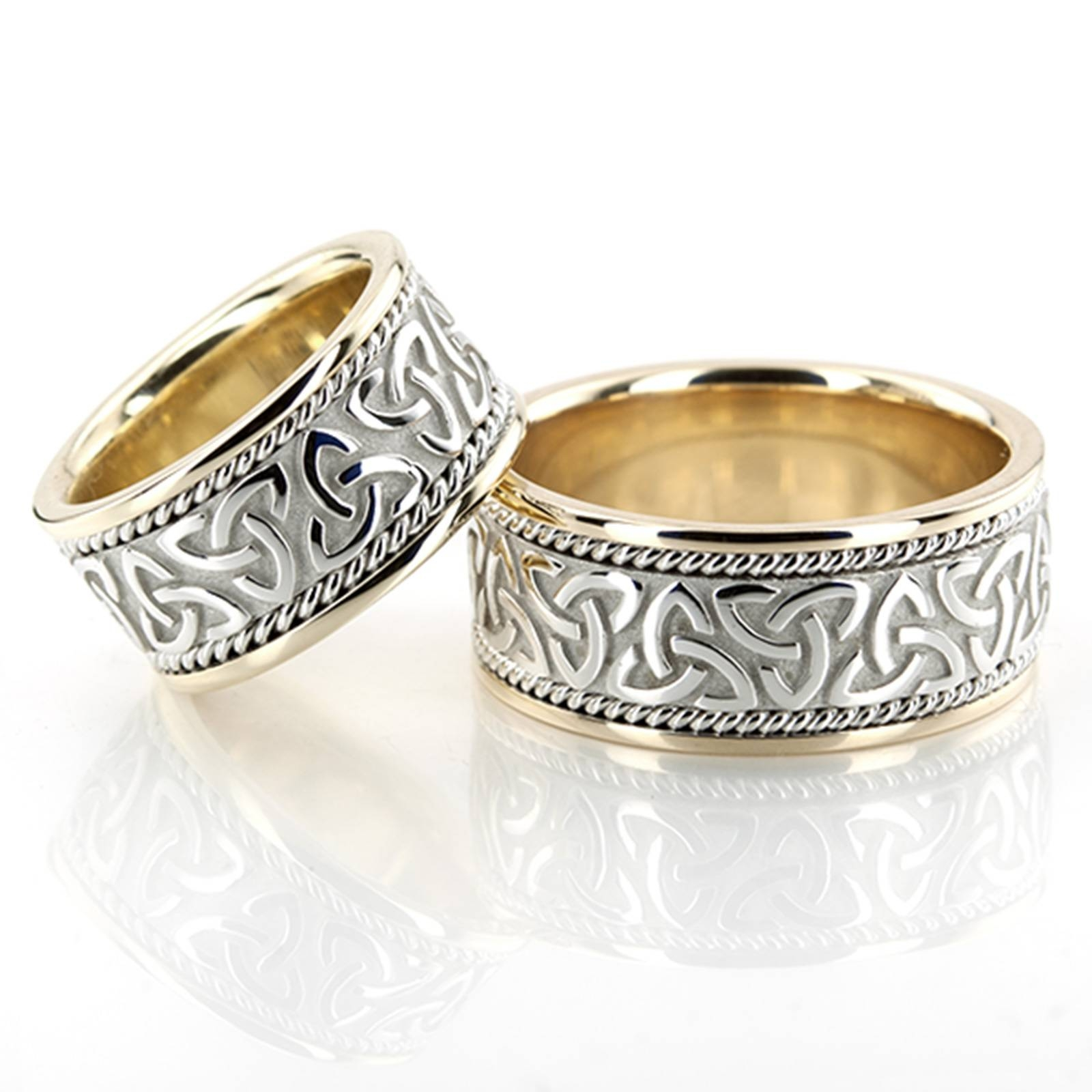 21 Irish Wedding Rings Sets, Gold Celtic Wedding Ring Set Pertaining To Irish Wedding Bands For Women (View 2 of 15)