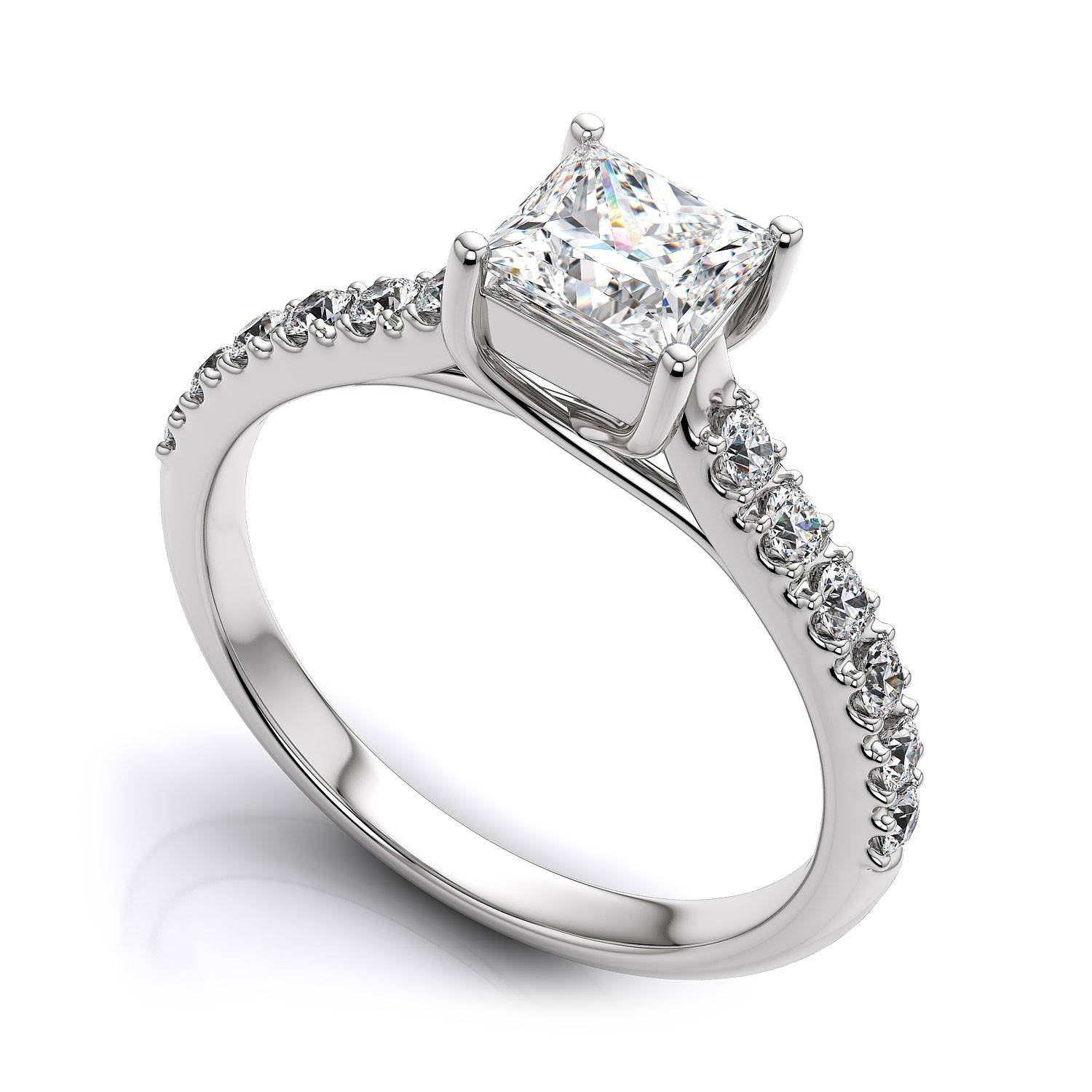 Featured Photo of Engagement Rings 18K White Gold