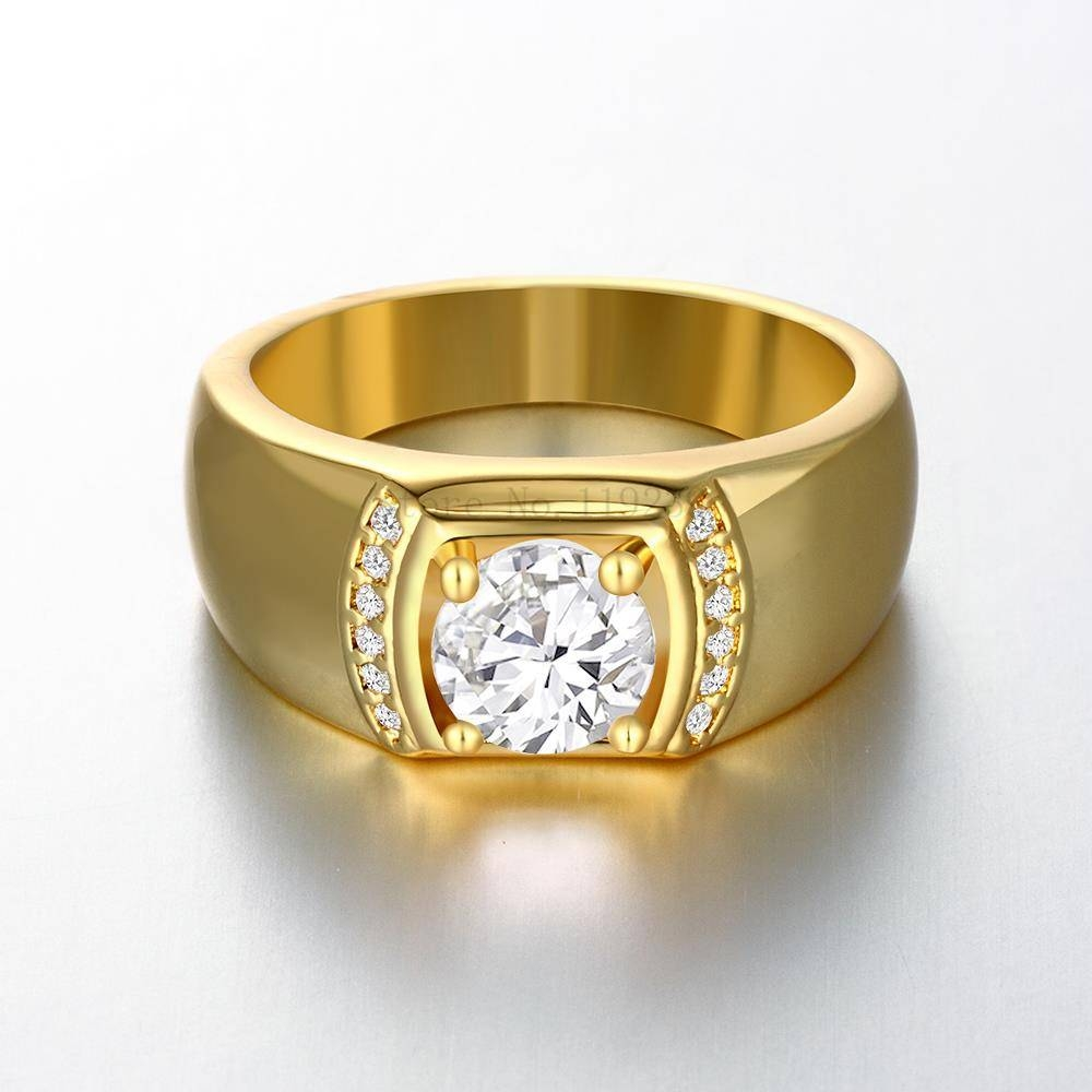 brilliant ring diamond yellow round wedding fashion simulated stones style newest item cut rings gold