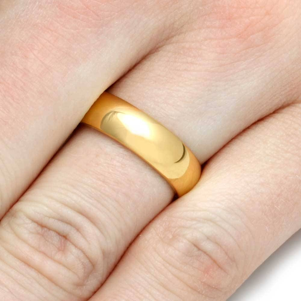 24K Gold Ring, Yellow Gold Wedding Band Inside 24K Gold Wedding Rings (Gallery 1 of 15)