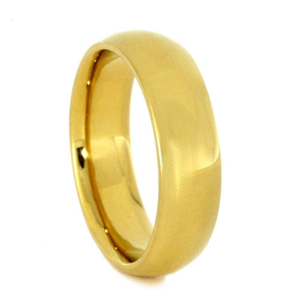 24K Gold Ring, Yellow Gold Wedding Band Intended For 24K Gold Wedding Bands (Gallery 5 of 15)