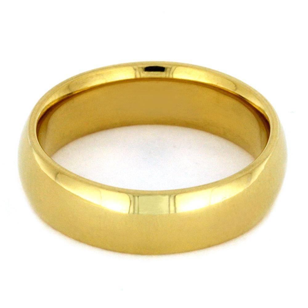 24k Gold Ring, Yellow Gold Wedding Band Regarding 24k Gold Wedding Bands (View 3 of 15)