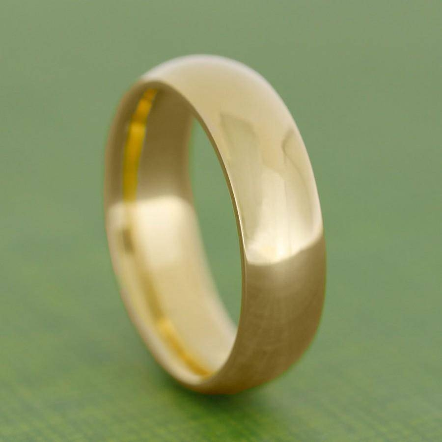 24K Gold Ring, Yellow Gold Wedding Band, Solid Gold Ring For Men Intended For 24K Gold Wedding Bands (View 11 of 15)