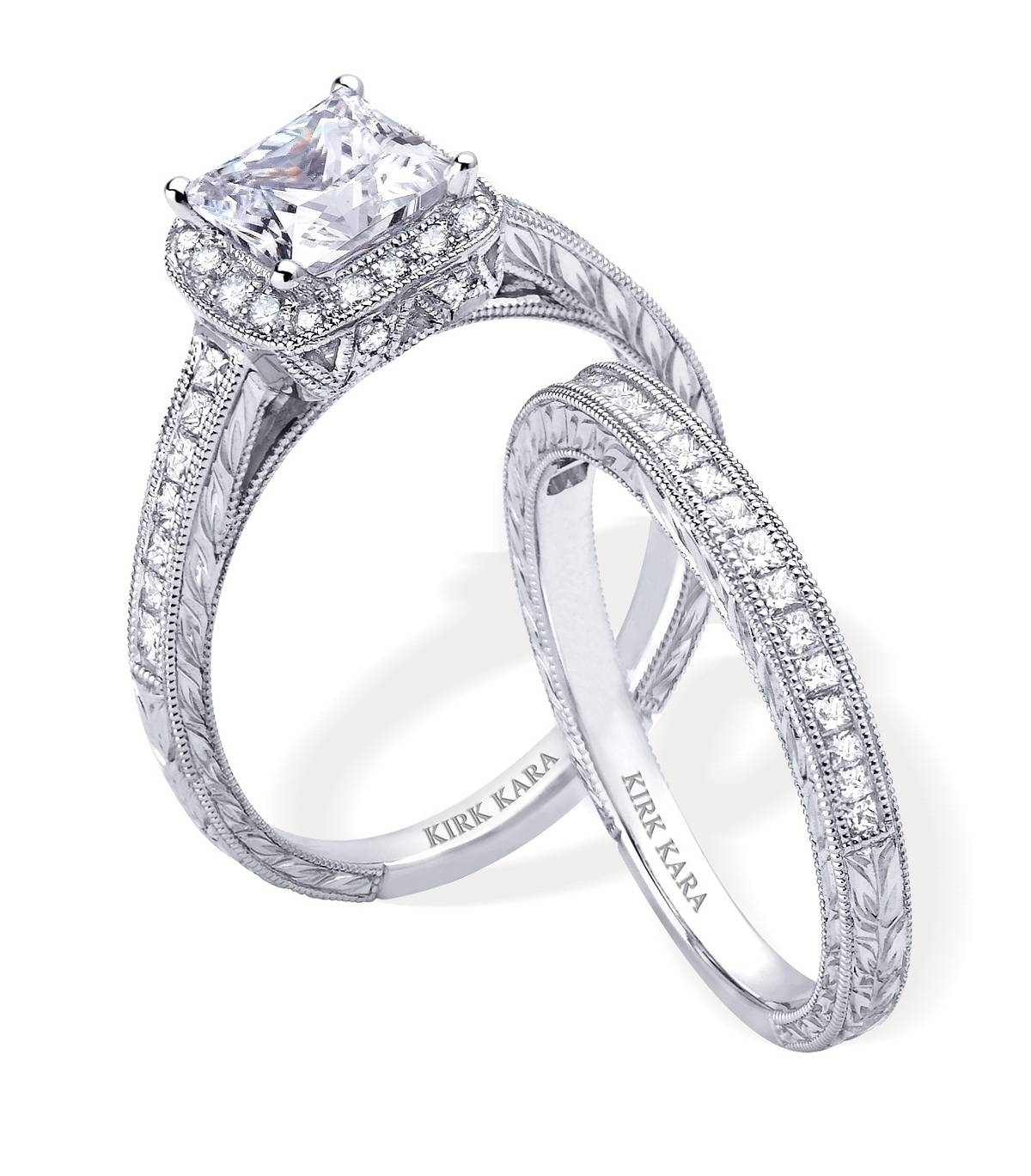 rows diamonds wedding princess cut of ring set with supreme engagement platinum product