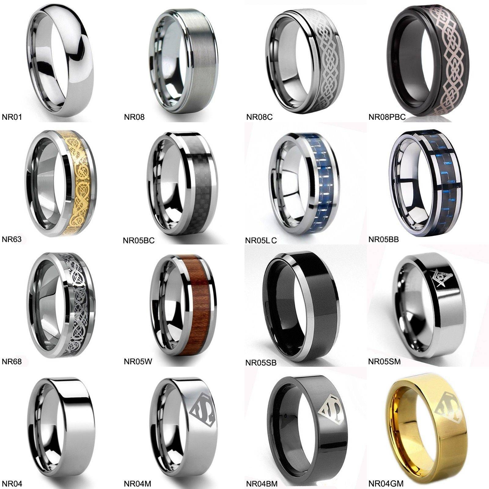 mens media wars space ring gift star bands battle s band men wedding promise tungsten couples