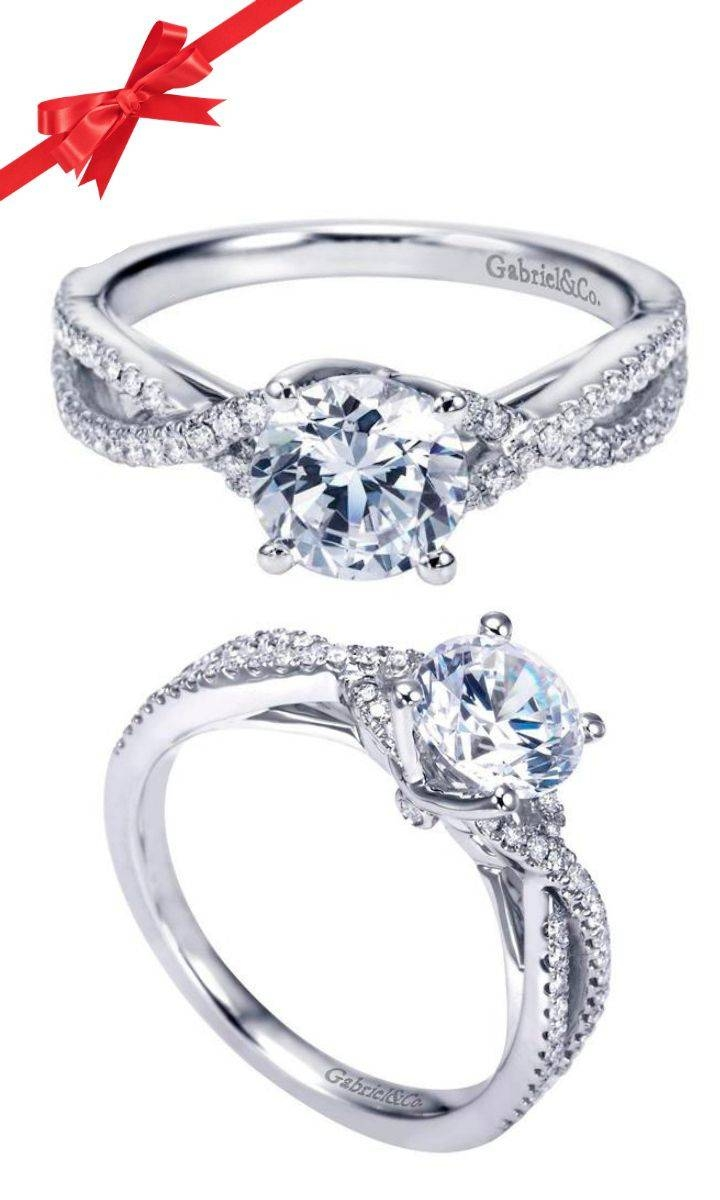 283 Best Rings I Like Images On Pinterest | Jewelry, Rings And Inside Tie The Knot Engagement Rings (View 12 of 15)
