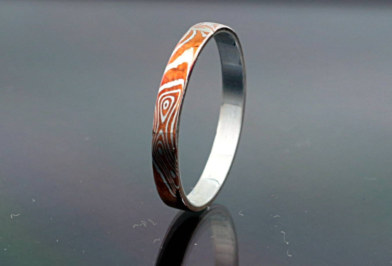 2mm Mokume Gane Ring Band Mokume Ring Mokume Wedding Band Mokume Pertaining To Mokume Gane Wedding Rings (View 14 of 15)