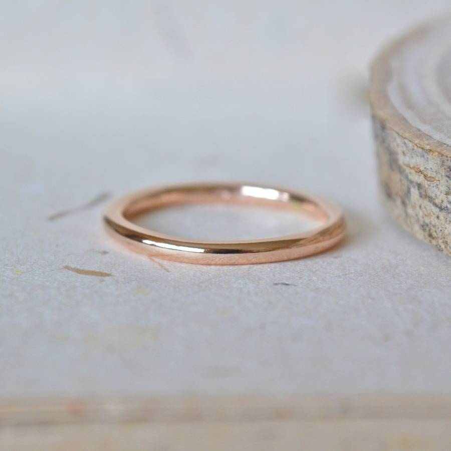 2Mm Rose Gold Wedding Bandnotes Jewellery | Notonthehighstreet In Rose Gold Wedding Bands (View 1 of 15)