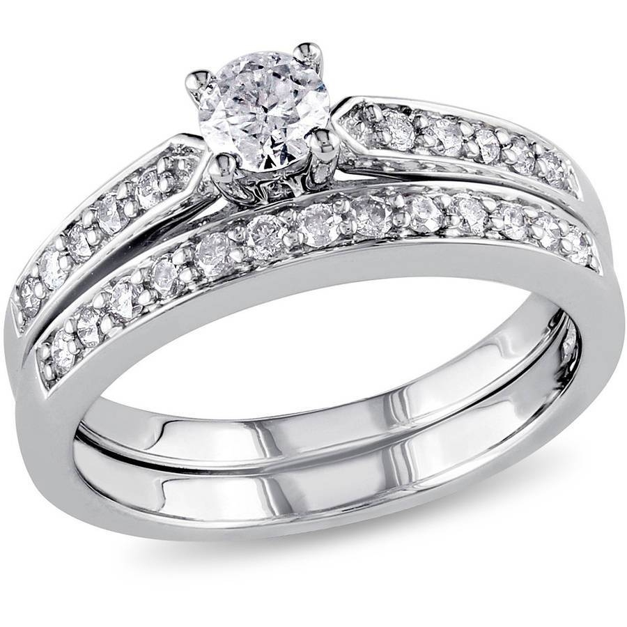 3.3 Carat T.g.w. Cz 14Kt Gold Plated Wedding Ring Set – Walmart In Engagement Ring Sets For Women (Gallery 4 of 15)