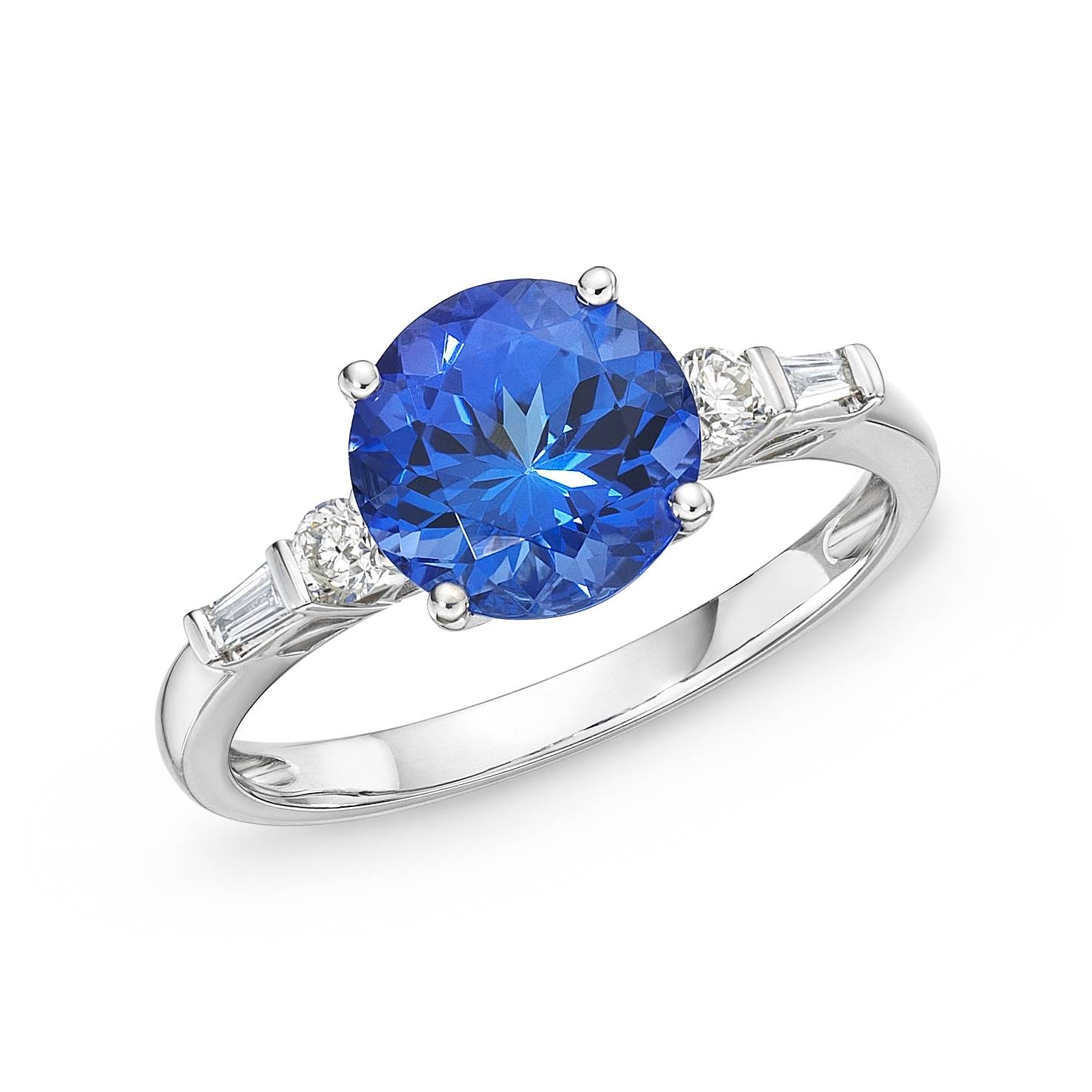 3.34 Ct Tiffany Tanzanite & Diamond Ring : Richland Gemstones Within Tanzanite Engagement Rings (Gallery 6 of 15)