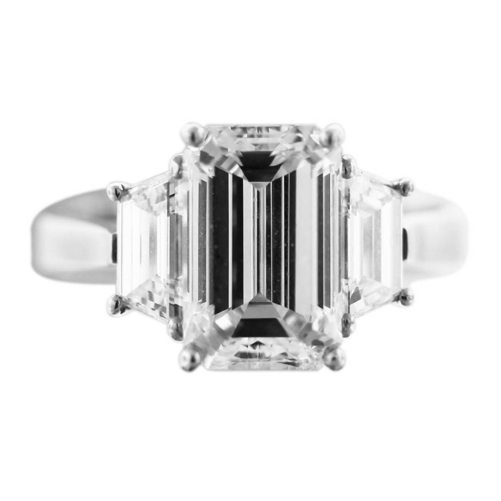 3 Carat Emerald Cut Diamond Engagement Ring Boca Raton For Emerald And Diamond Wedding Rings (View 3 of 15)