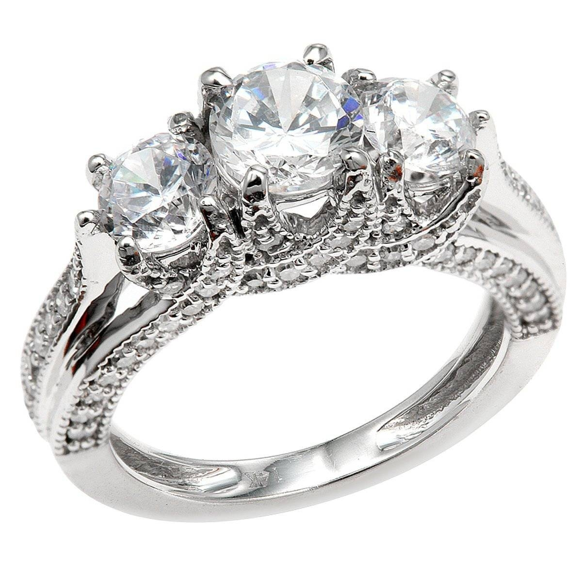 3 Stone Engagement Rings – A Perfect Way To Make Your Beloved Feel Pertaining To Three Stone Wedding Rings (View 1 of 15)